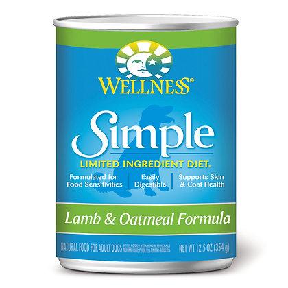 Wellness Simple Solutions Lamb & Oatmeal Wet Dog Food 12.5oz
