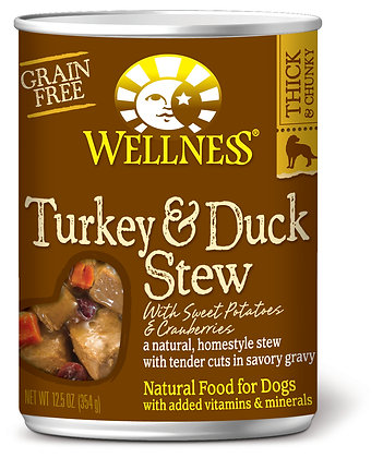 Wellness Stews Turkey & Duck Grain-Free Wet Dog Food 12.5oz