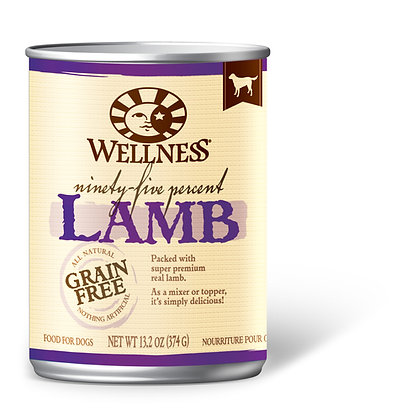 Wellness 95% Grain-Free Lamb Wet Dog Food 13.2oz