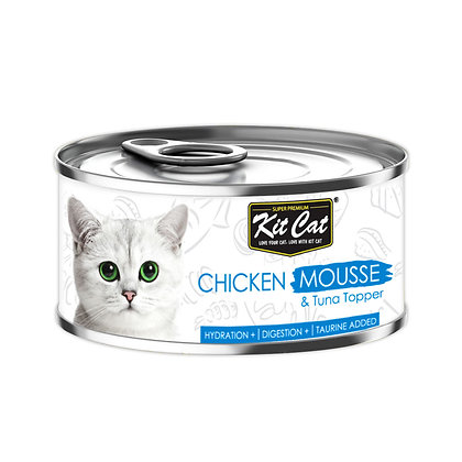Kit Cat Chicken Mousse with Tuna Topper 80g (24 cans)