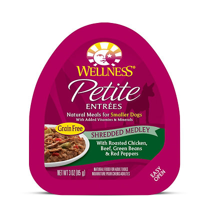 Wellness Petite Entrees Shredded Medley Roasted Chicken, Beef 3oz