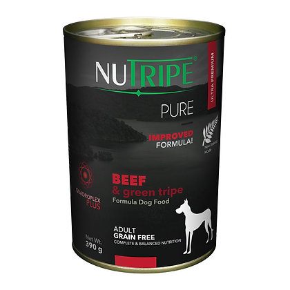Nutripe Pure Beef & Green Tripe Dog 390g (12 cans)