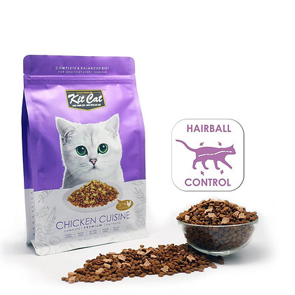Kit Cat Dry Food Chicken Cuisine (Hairball Control)