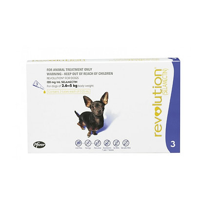 Revolution for Extra Small Dogs 2.6-5kg