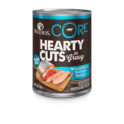 Wellness CORE Hearty Cuts Whitefish & Salmon Wet Dog Food 12.5oz