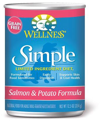 Wellness Simple Solutions Salmon & Potato Grain-Free Wet Dog Food 12.5oz