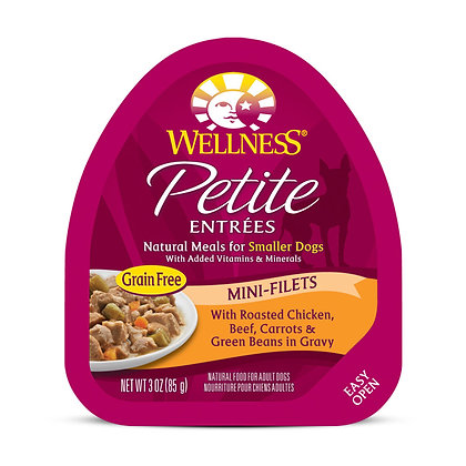 Wellness Petite Entrees Mini-Filets Roasted Chicken, Beef w Gravy