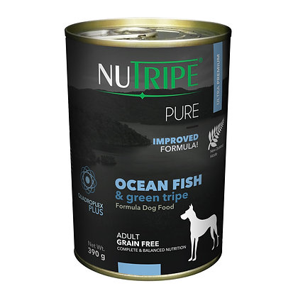 Nutripe Pure Ocean Fish & Green Tripe Dog 390g (12 cans)