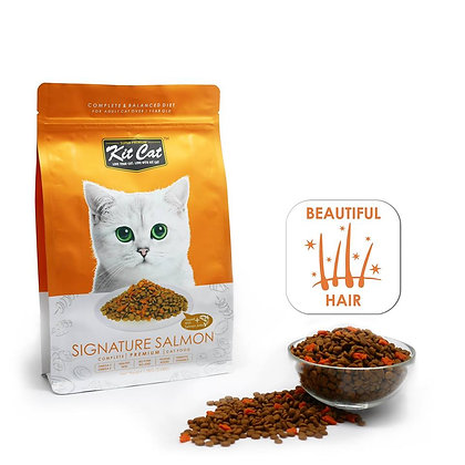 Kit Cat Dry Food Signature Salmon (Beautiful Hair)