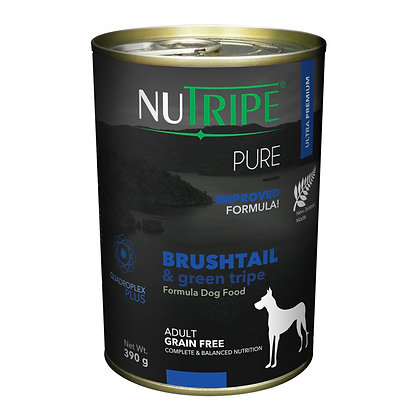 Nutripe Pure Brushtail & Green Tripe Dog 390g (12 cans)