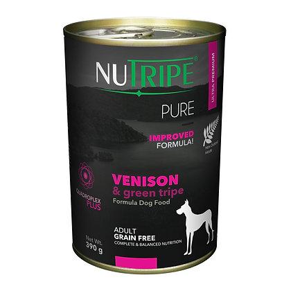 Nutripe Pure Venison & Green Tripe Dog 390g (12 cans)