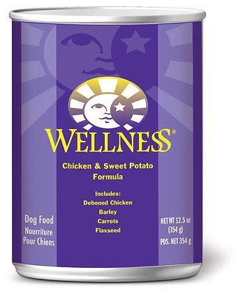 Wellness Complete Health Chicken & Sweet Potato Wet Dog Food 12.5oz