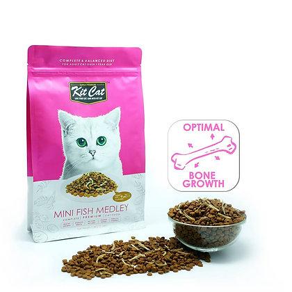 Kit Cat Dry Food Mini Fish Medley (Optimal Bone Growth)