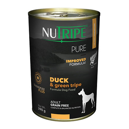 Nutripe Pure Duck & Green Tripe Dog 390g (12 cans)