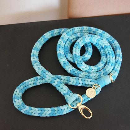 Braided Leash Blue