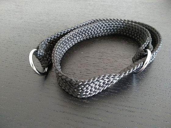 Double Nylon Slip Collar 20mm x 70cm - Black