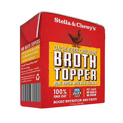 Stella & Chewy's Broth Topper - Cage-Free Chicken 11oz