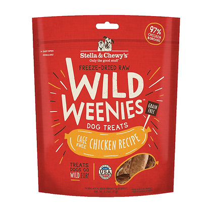 Stella & Chewy's Wild Weenies Chicken Dog Treats 3.25oz