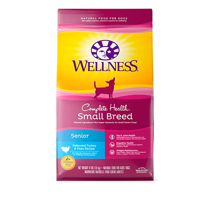 Wellness Complete Health Small Breed Senior Dry Dog Food 4lb