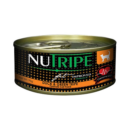 Nutripe Fit Duck & Green Tripe w CoQ10 Cat 95g (24 cans)