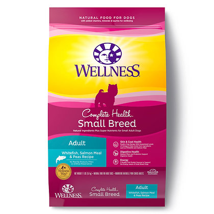 Wellness Complete Health Small Breed Adult Whitefish Salmon & Peas Dry Dog Food