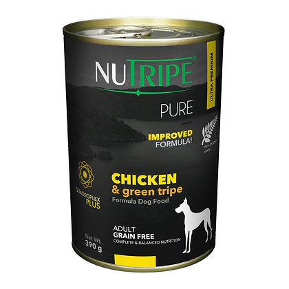 Nutripe Pure Chicken & Green Tripe Dog 390g (12 cans)