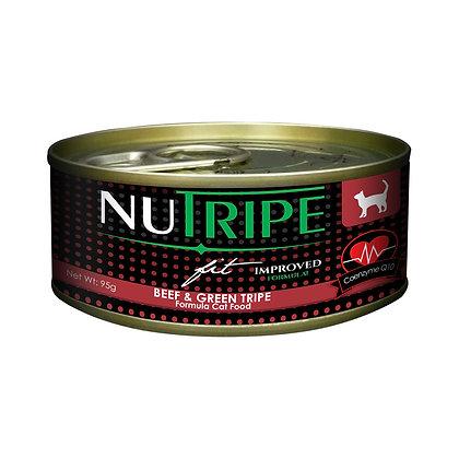 Nutripe Fit Beef & Green Tripe w CoQ10 Cat 95g (24 cans)