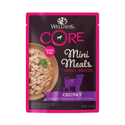 Wellness CORE Small Breed Mini Meals Chunky Chicken & Chicken Liver 3oz