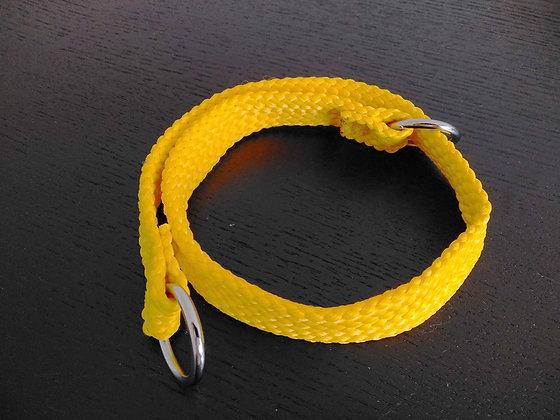 Double Nylon Slip Collar 20mm x 60cm - Yellow
