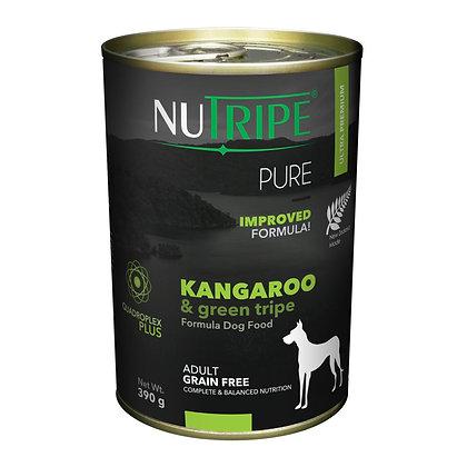 Nutripe Pure Kangaroo & Green Tripe Dog 390g (12 cans)