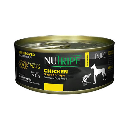 Nutripe Pure Chicken & Green Tripe Dog 95g (24 cans)