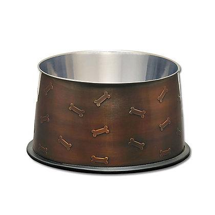 Loving Pets Artistic Antique Copper No-Tip Bowl