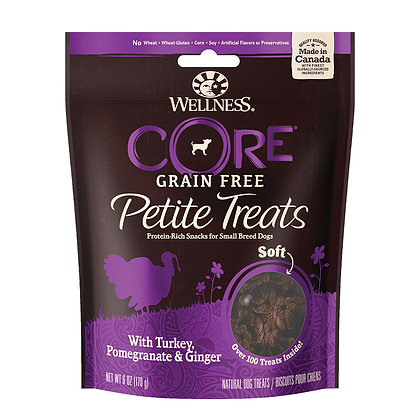 Wellness Petite Treats Turkey, Pomegranate & Ginger - Soft Treats 6oz