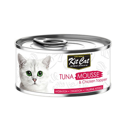 Kit Cat Tuna Mousse with Chicken Topper 80g (24 cans)
