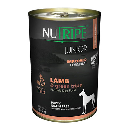 Nutripe Junior Lamb & Green Tripe Dog 390g (12 cans)