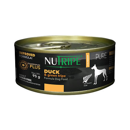Nutripe Pure Duck & Green Tripe Dog 95g (24 cans)