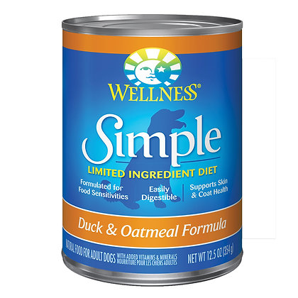 Wellness Simple Solutions Duck & Oatmeal Wet Dog Food 12.5oz