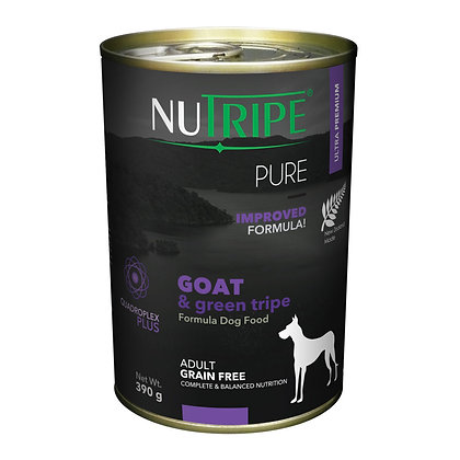 Nutripe Pure Goat & Green Tripe Dog 390g (12 cans)
