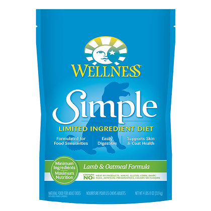 Wellness Simple Solutions Limited Ingredient Diet Lamb & Oatmeal Dry Dog Food