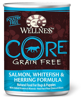 Wellness CORE Grain-Free Salmon, Whitefish & Herring Wet Dog Food 12.5oz