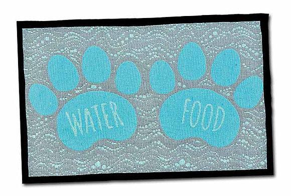Loving Pets Bella Fashion Dog Mat - Food & Water