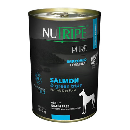 Nutripe Pure Salmon & Green Tripe Dog 390g (12 cans)