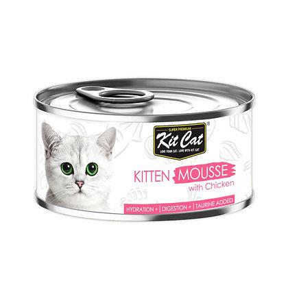 Kit Cat Kitten Chicken Mousse 80g (24 cans)