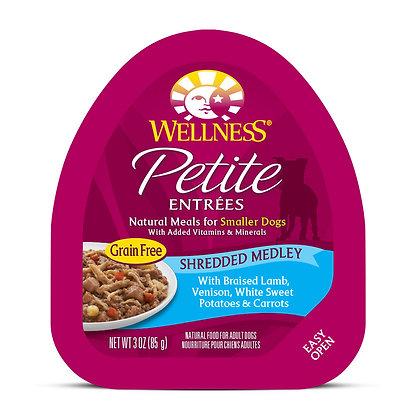 Wellness Petite Entrees Shredded Medley Braised Lamb, Venison 3oz
