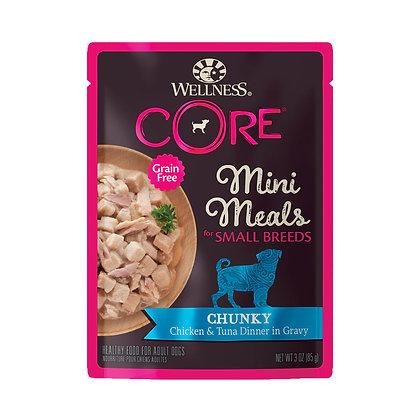 Wellness CORE Small Breed Mini Meals Chunky Chicken & Tuna 3oz