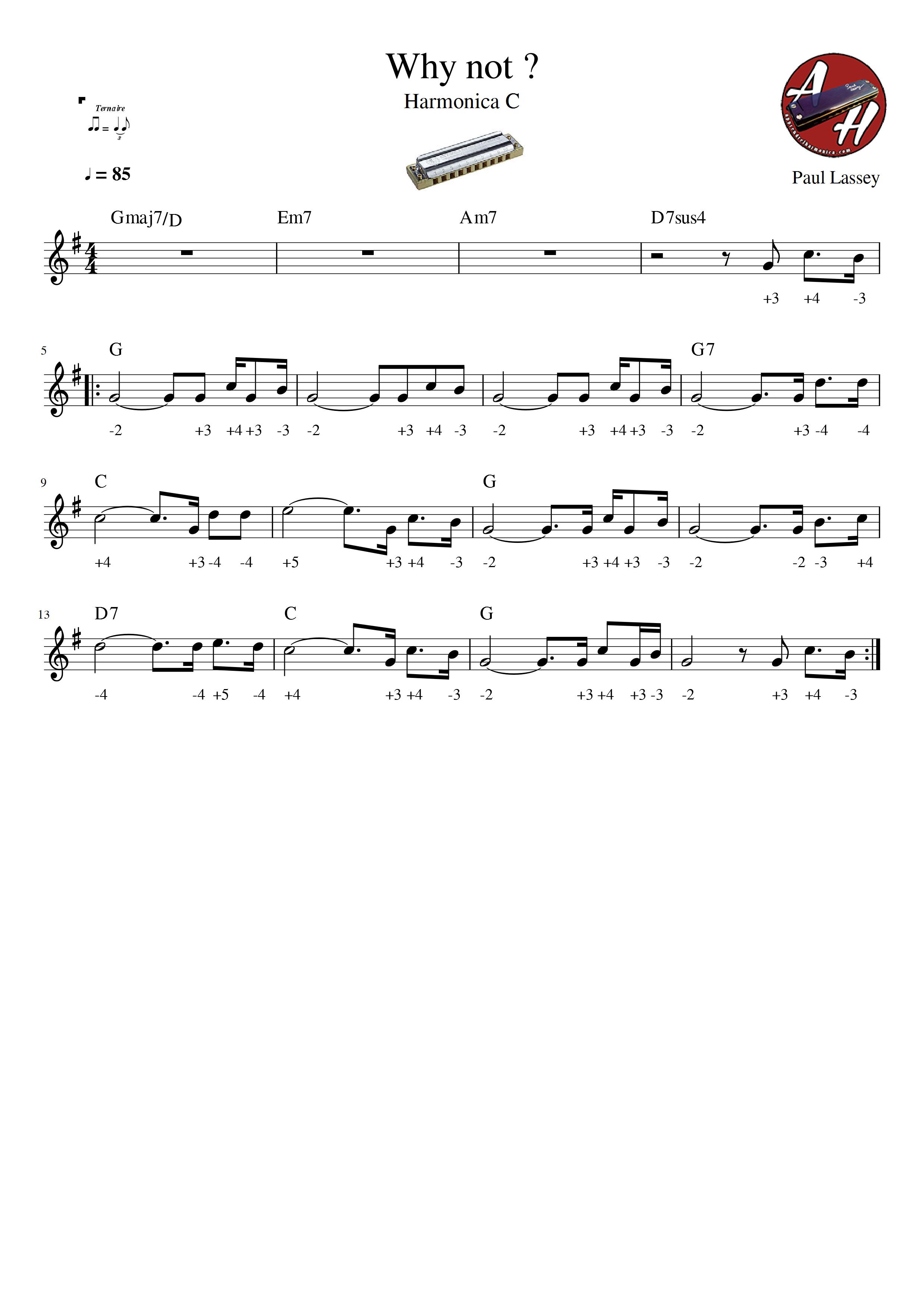 Why not - Paul Lassey - Harmonica C