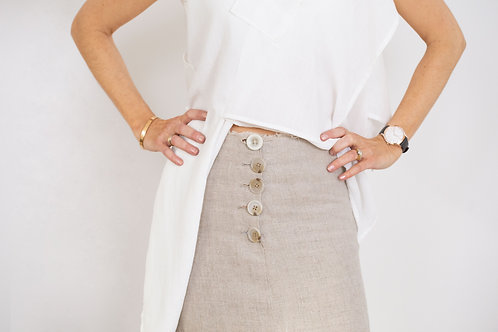 Safari Skirt in Pure Linen