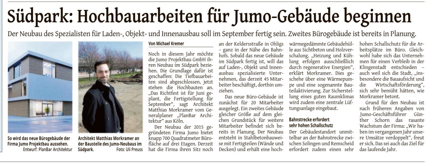 Solinger Tageblatt, 12.04.18