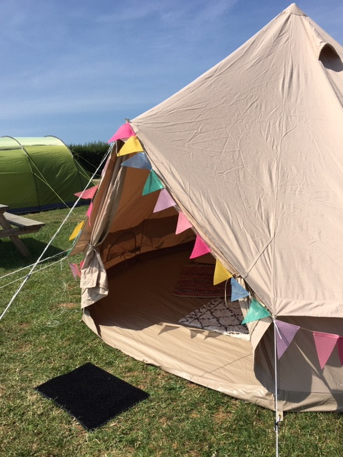 Bell Tent Glamping Camping Canvas Tent Bunting