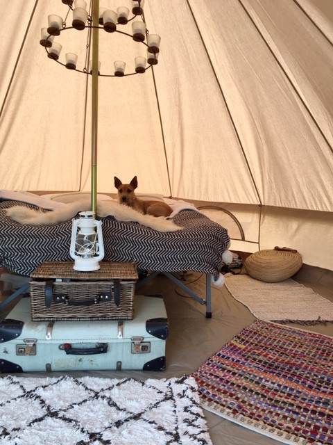 Bell Tent interior camping